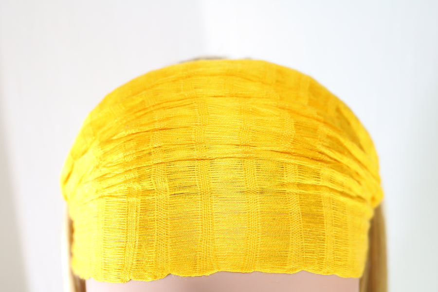 Goldenrod headband, made in Guatemal, medium non-slip (front view)