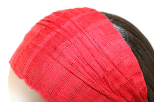 Headband - Solid Bright Red - Non-slip