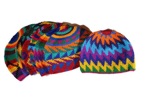 Bright Multi Color Skull Cap