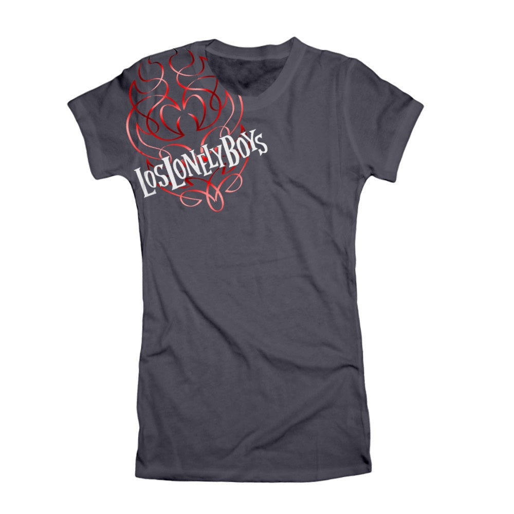 "Los Lonely Boys ""Flames"" Women's Charcoal Grey T-Shirt"