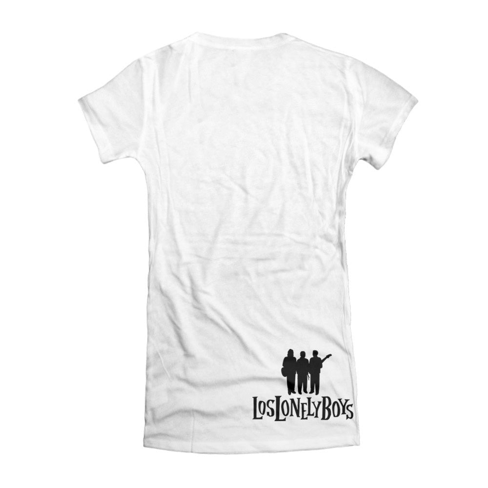 "Los Lonely Boys ""Flames"" Women's White T-Shirt"