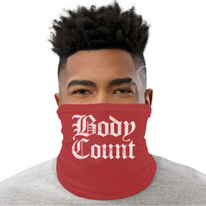 "Body Count ""Old English Logo"" neck gaiter in Red"