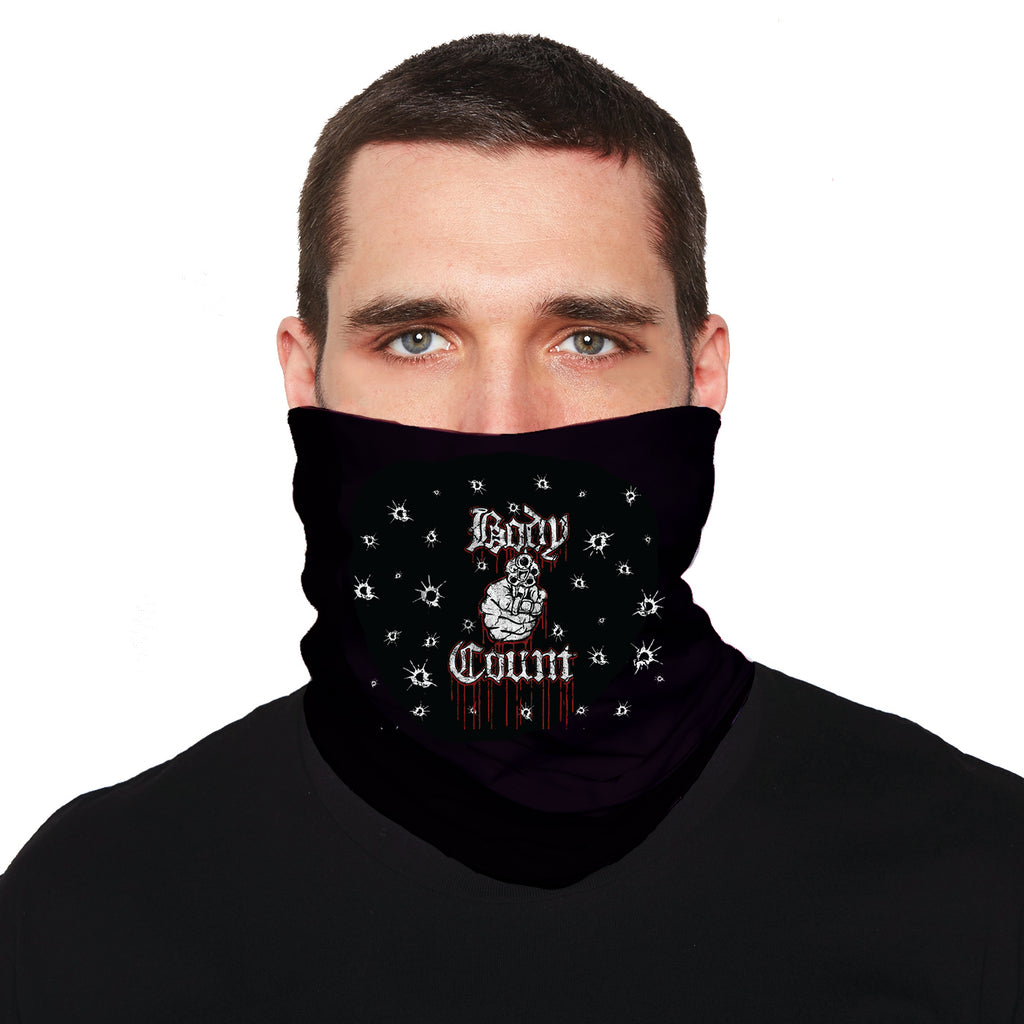 "Body Count ""Talk Shit"" neck gaiter in Black"