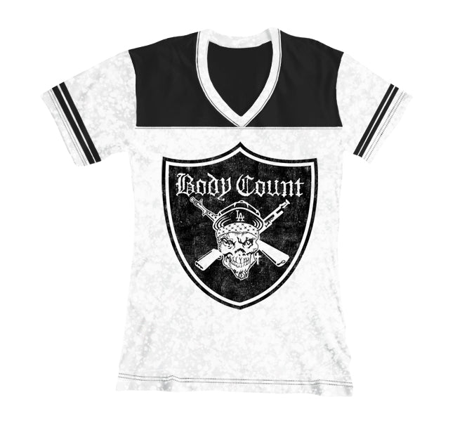 "Body Count ""Pirate"" Women's Football T-Shirt"