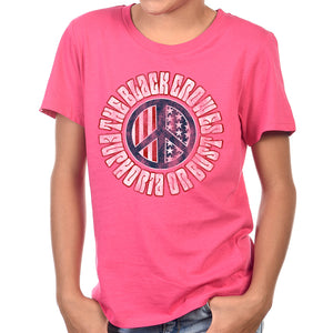 "The Black Crowes ""Peace"" Kids Pink T-Shirt"