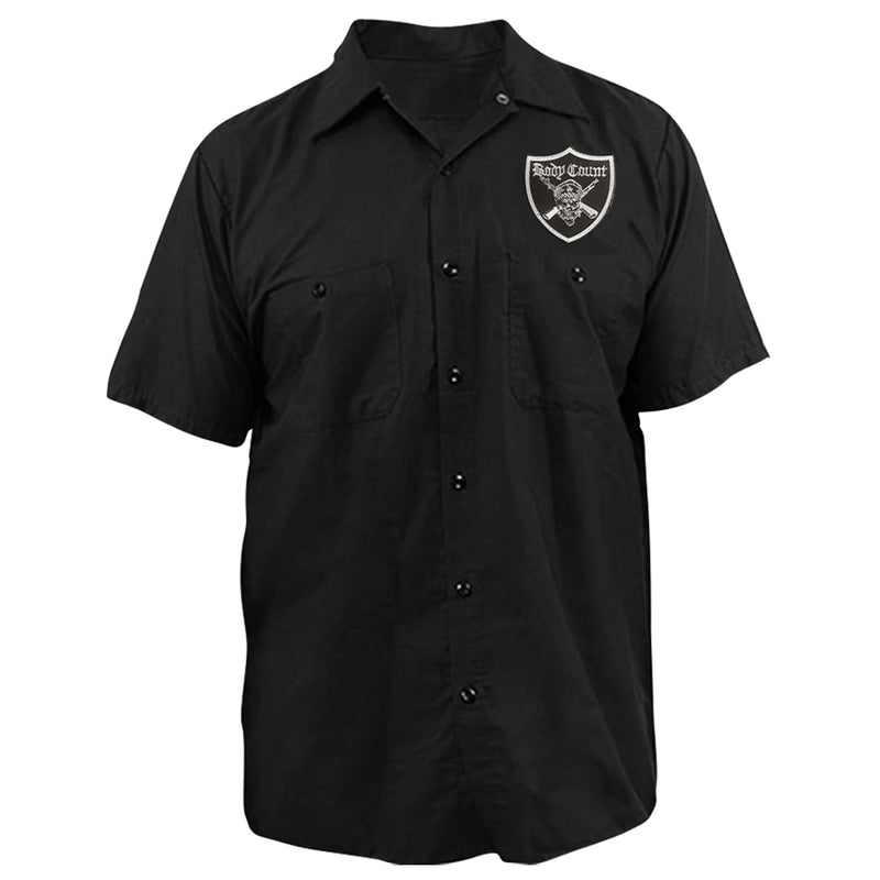 "Body Count ""Pirate Logo"" Embroidered Work Shirt"