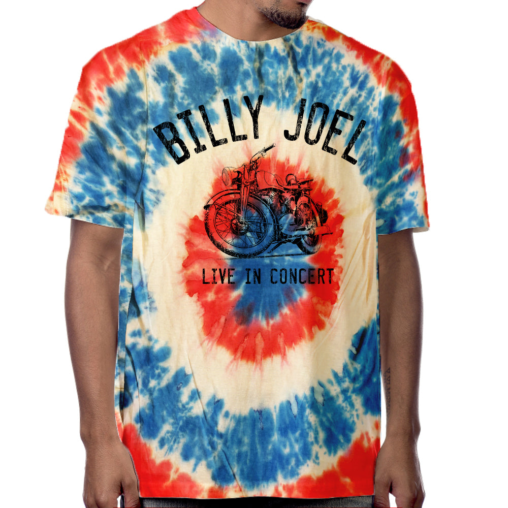 "Billy Joel ""Motorcycle LIC"" Tie-Dyed T-Shirt"