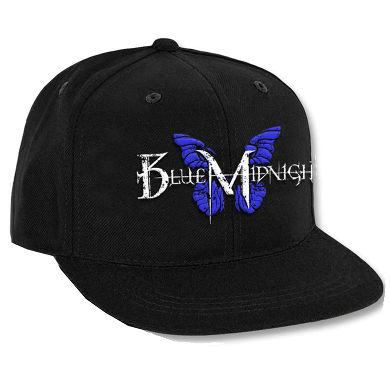 Blue Midnight Butterfly Logo Snapback Hat