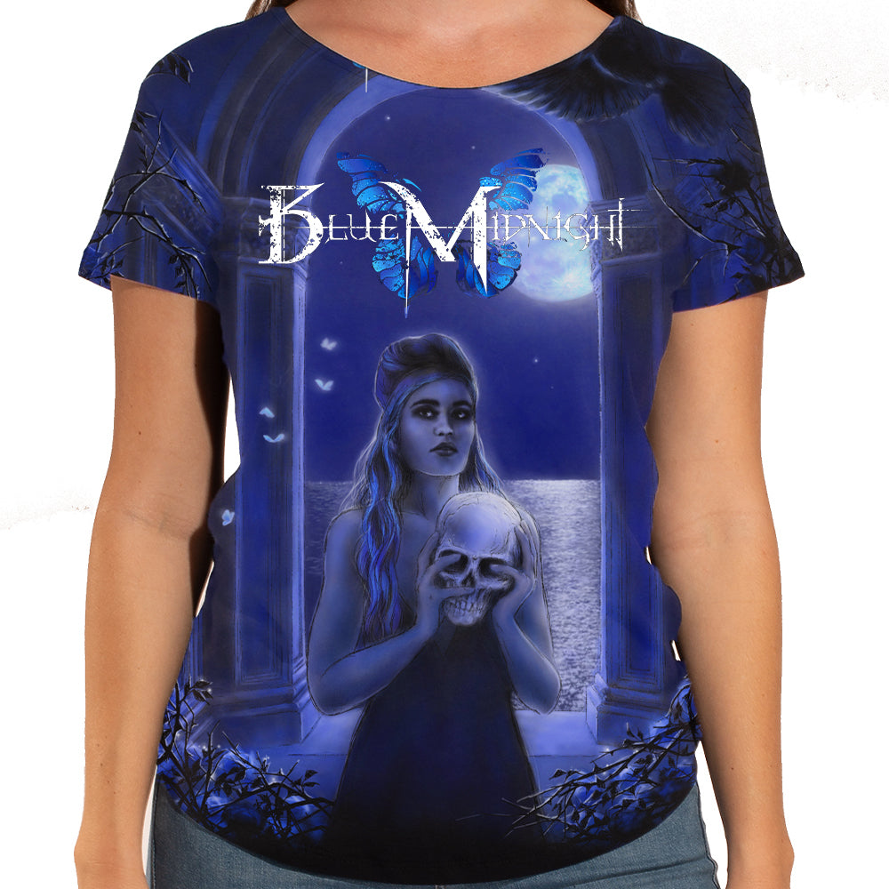 "Blue Midnight ""Archway"" Women's Scoop Neck Allover Print T-Shirt"