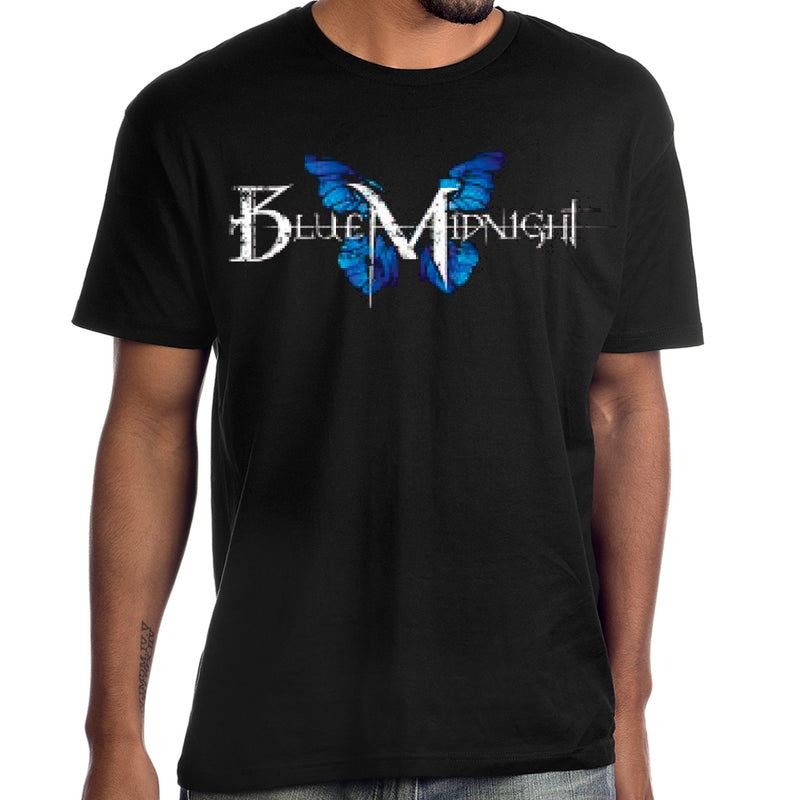 Blue Midnight Butterfly Logo T-Shirt