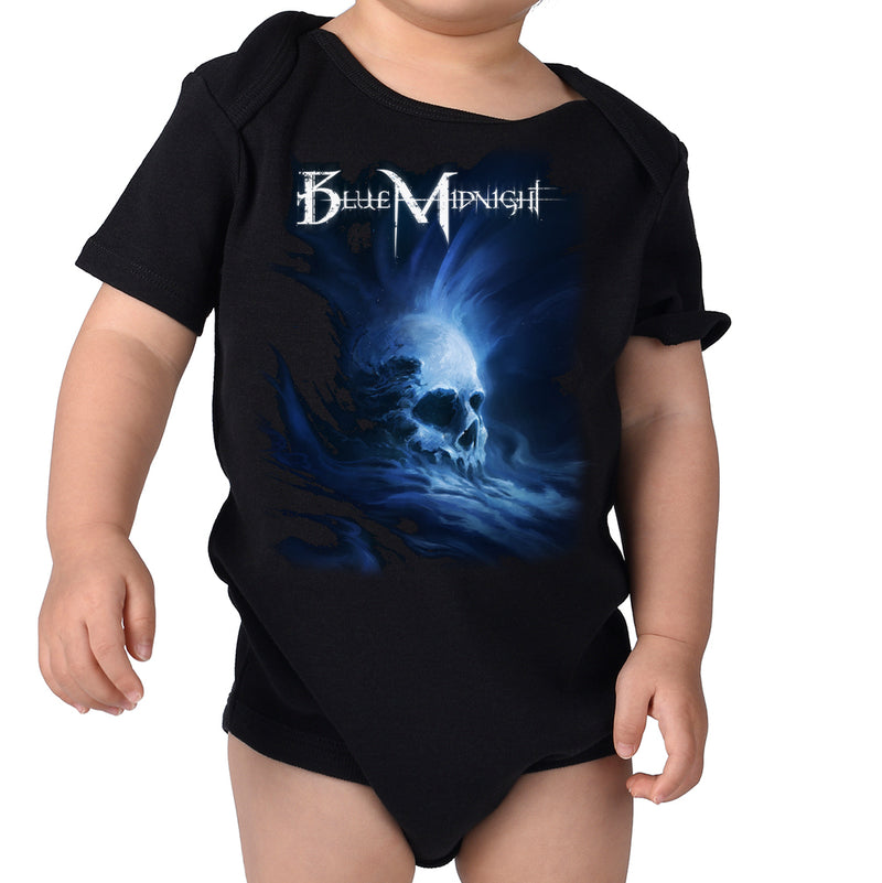 Blue Midnight Skull Infant Onesie