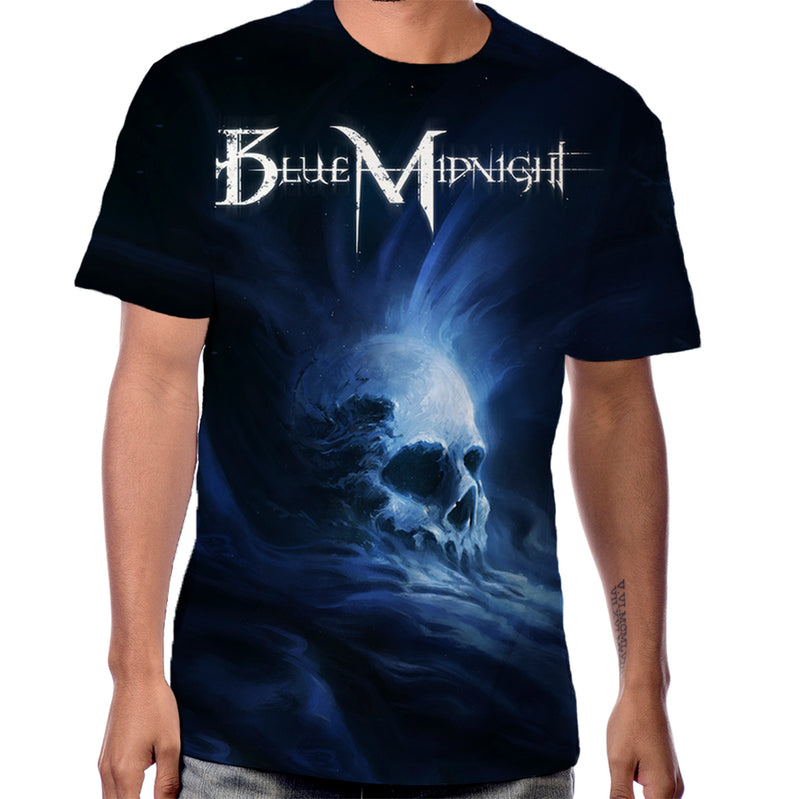 Blue Midnight Skull T-Shirt
