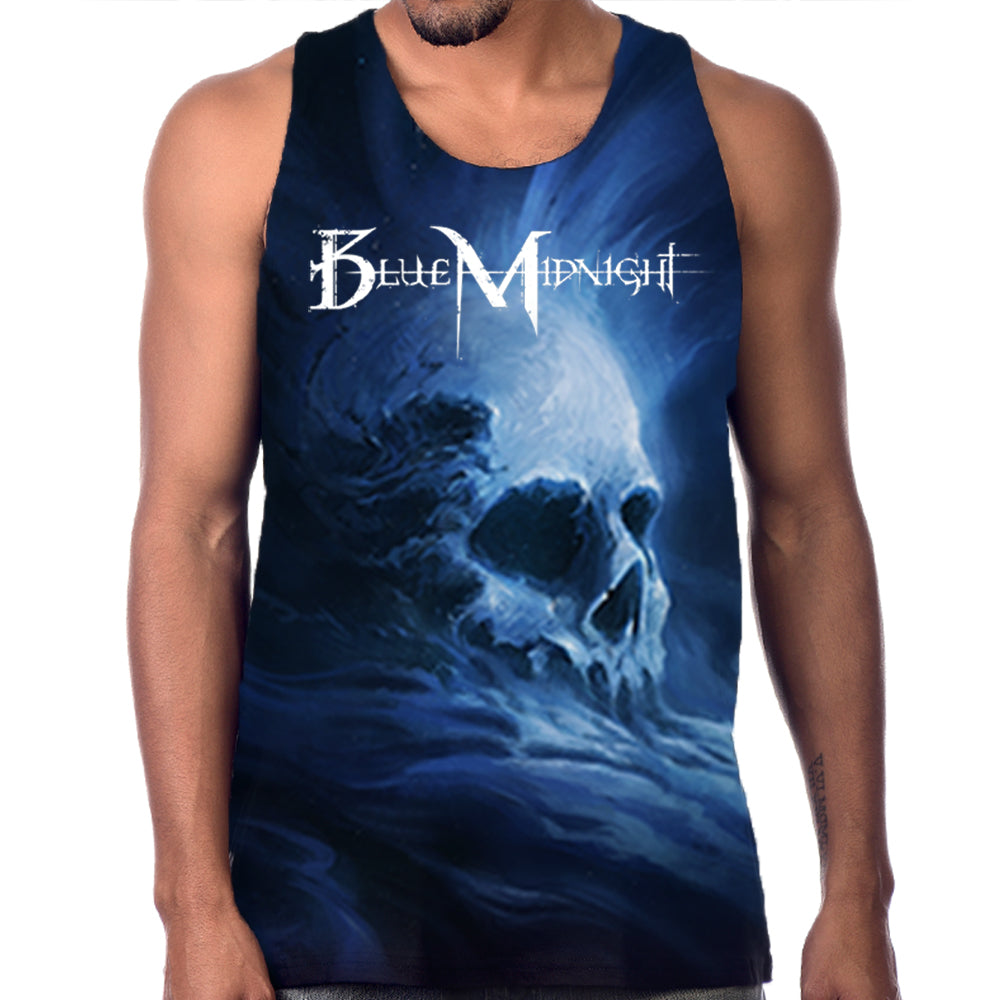 "Blue Midnight ""Skull"" Men's Allover Print Tank Top"