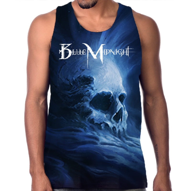 Blue Midnight Skull All-Over Print Tank Top