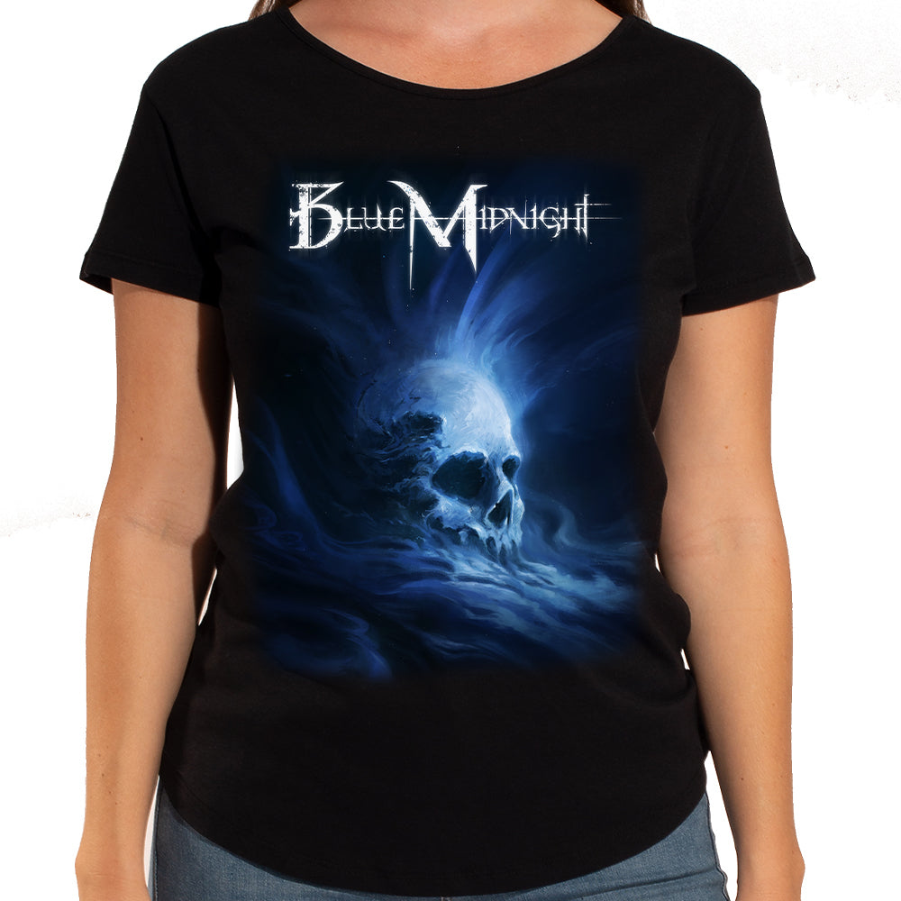 "Blue Midnight ""Skull"" Women's Scoop Neck T-Shirt"