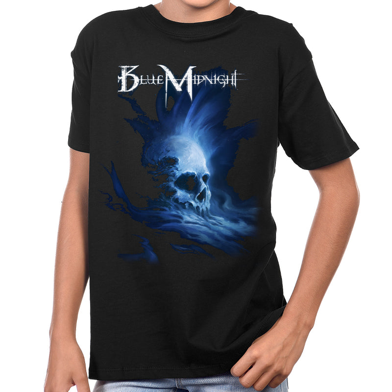 Blue Midnight Skull Youth T-Shirt