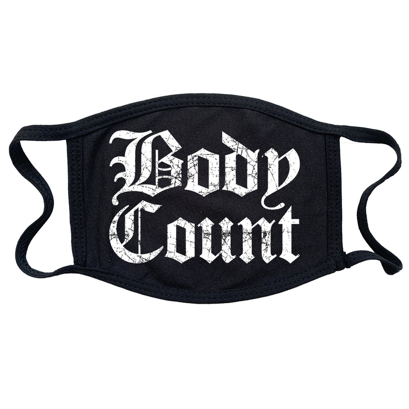 Body Count Old English Logo Reusable and Washable Anti-Germ and Pollution Mask Cover in Black
