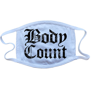 "Body Count ""Old English Logo"" mask in White"