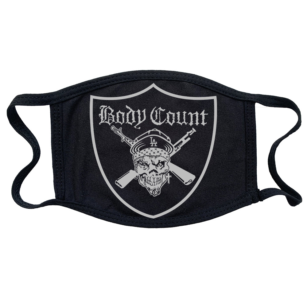 Body Count Pirate Logo Reusable and Washable Anti-Germ and Pollution Mask Cover in Black