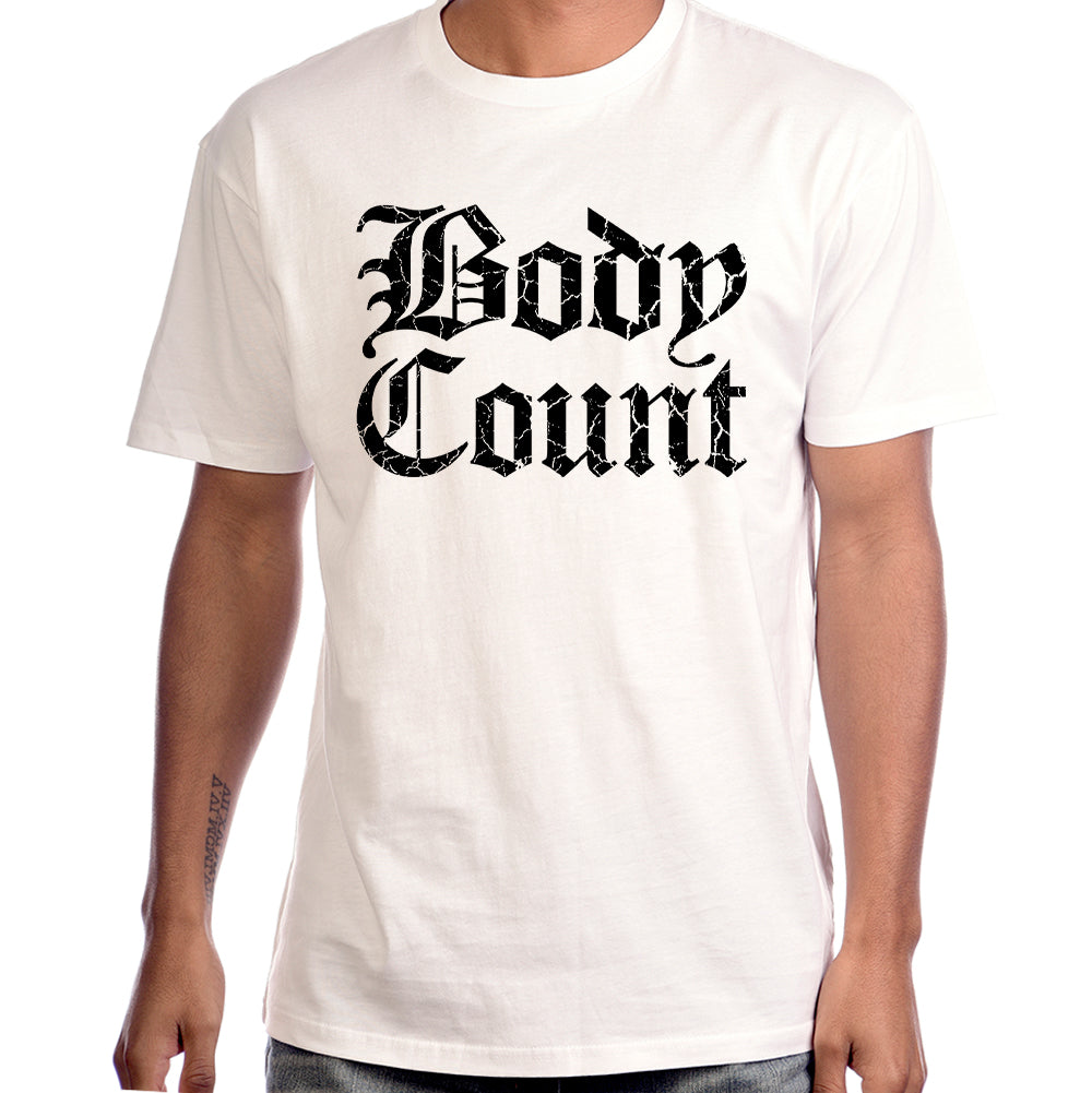 "Body Count ""Stacked Logo"" T-Shirt in White"