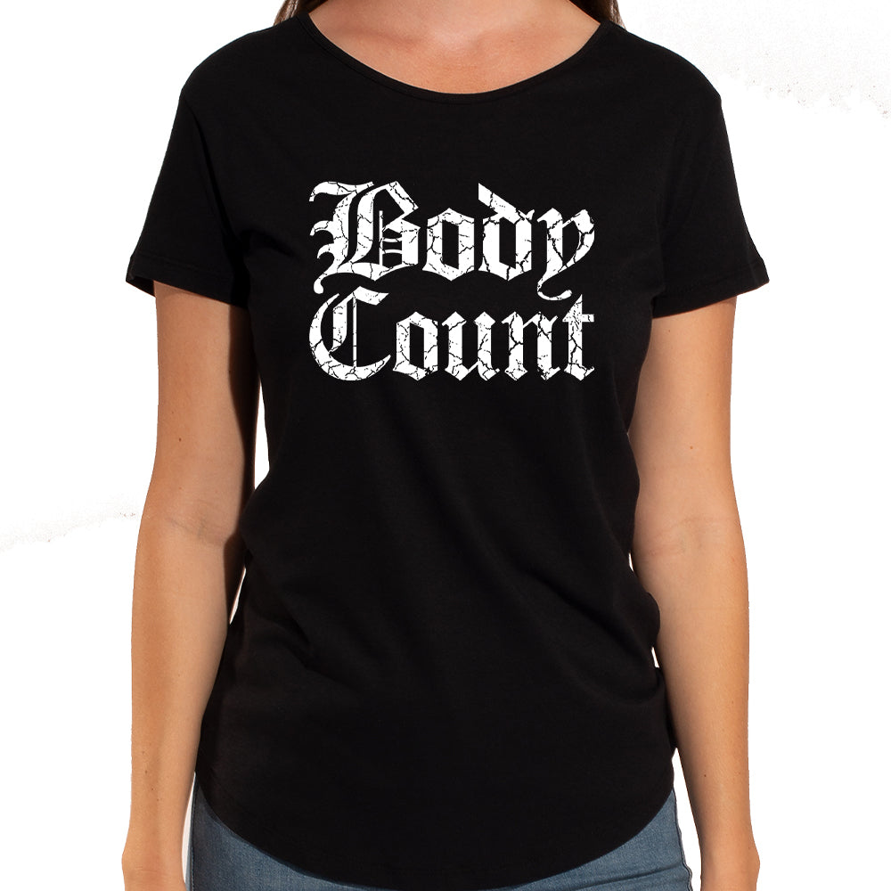 Body Count Stacked Logo Women's Sliced-Back T-Shirt