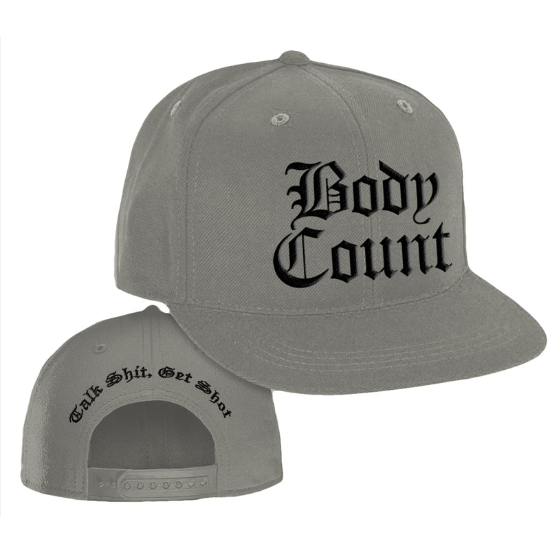Body Count Talk Shit Snapback Hat in Grey