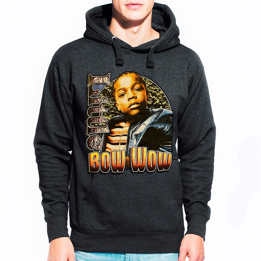 "Bow Wow ""Little"" Pullover Hoodie - Dark Heather Charcoal"