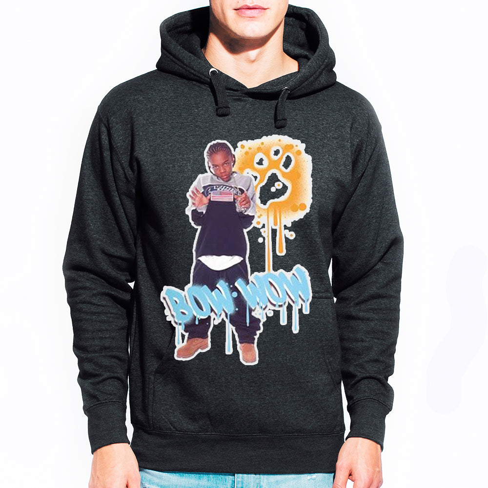 "Bow Wow ""Graffiti"" Unisex Pullover Hoodie - Dark Heather Charcoal"