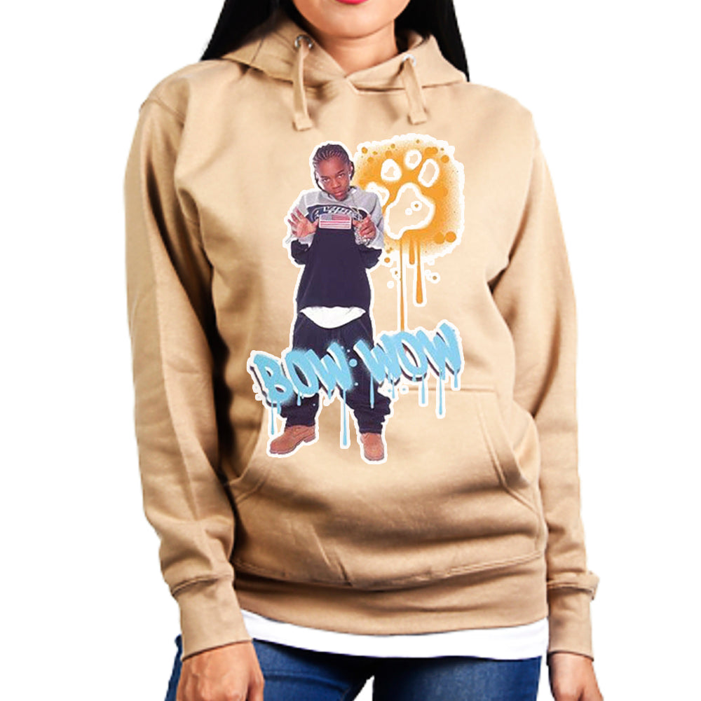 "Bow Wow ""Graffiti"" Unisex Pullover Hoodie - Tan"