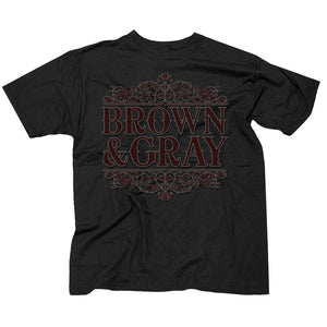 "Brown & Gray ""Victorian Design"" Men's T-shirt"
