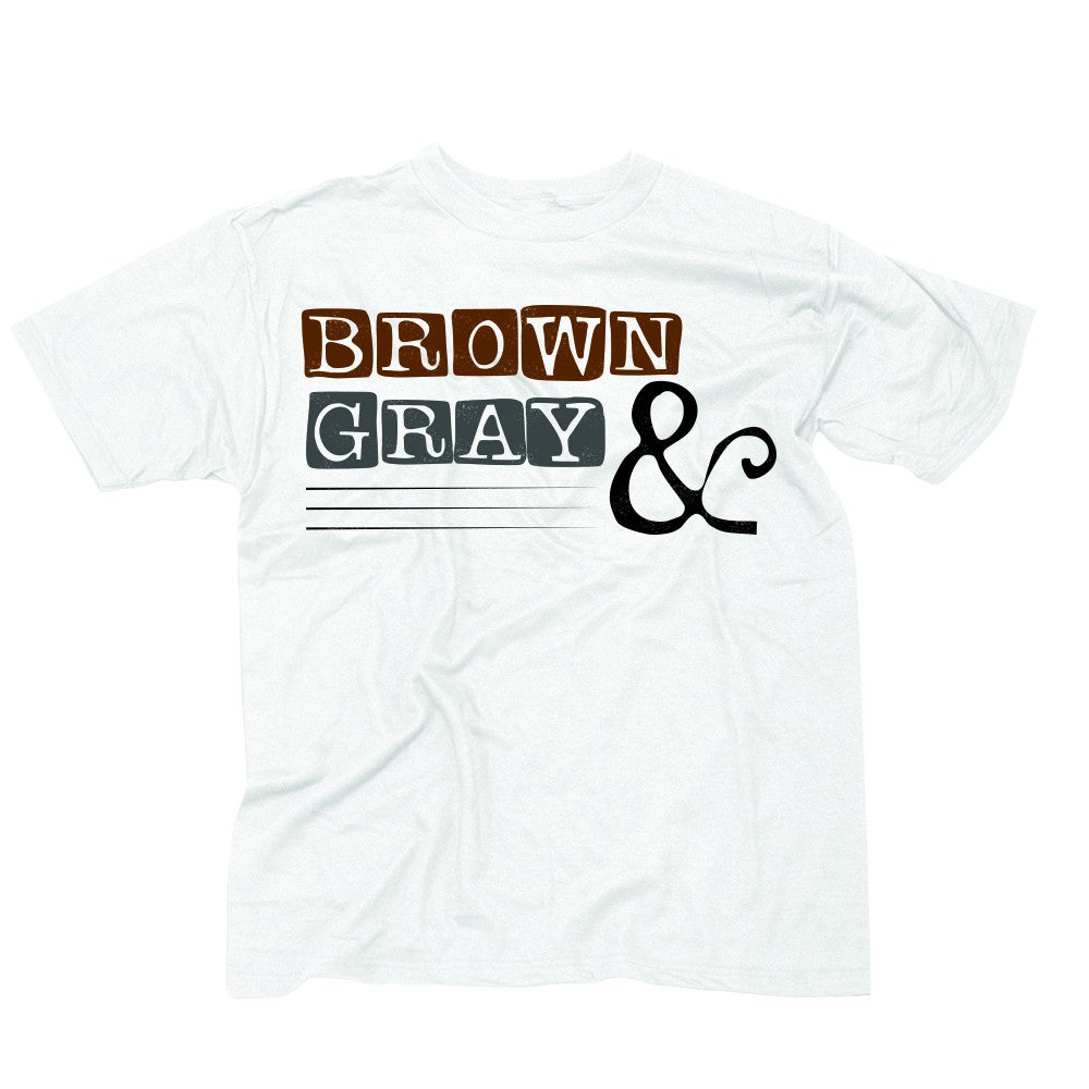 "Brown & Gray ""Boxed Logo"" Men's T-shirt"