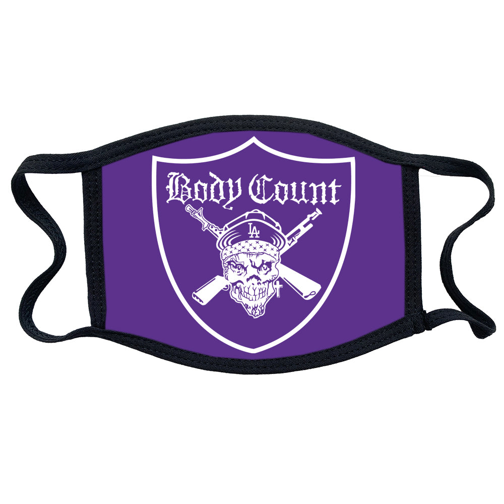 "Body Count ""Pirate Logo"" mask in Purple"