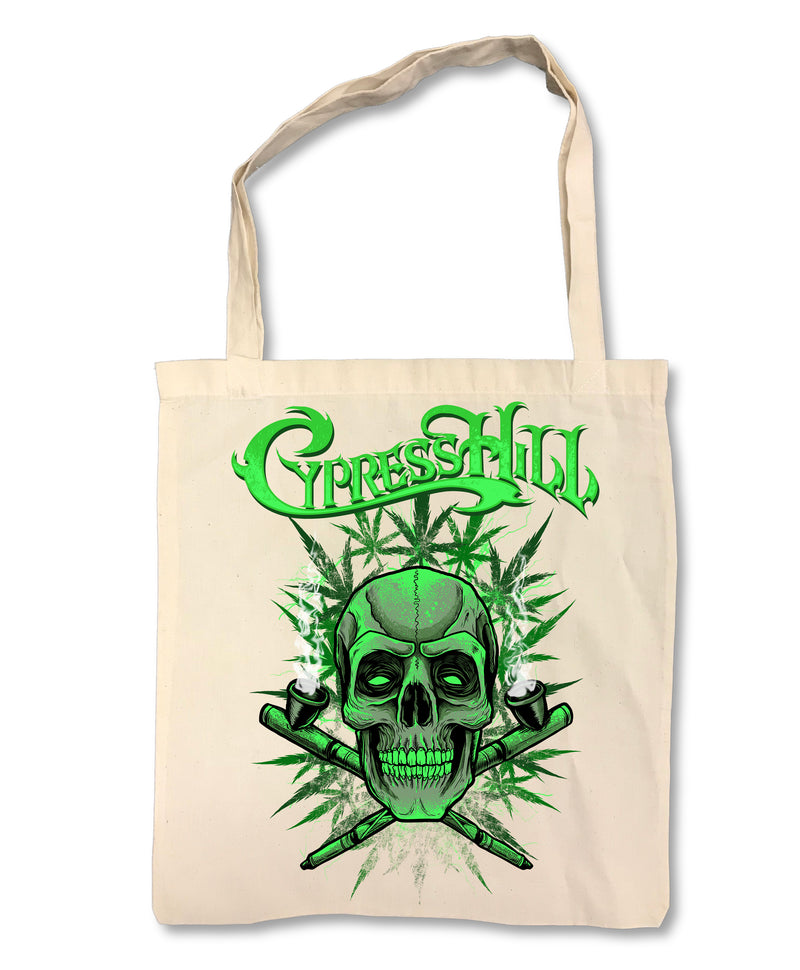 "Cypress Hill ""420"" on Tan Tote Bag"