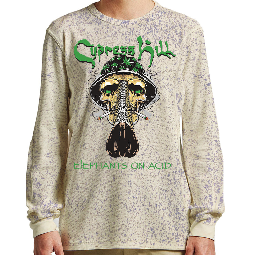 "Cypress Hill ""Fear and Loathing"" Long Sleeve Splatter Dyed Shirt"