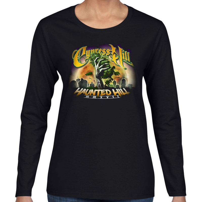 "Cypress Hill ""Haunted Hill"" women's long sleeve tour t-shirt"
