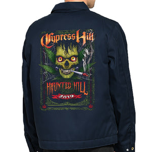 "Cypress Hill ""Haunted Hill 2019"" Work Jacket - Navy Blue"