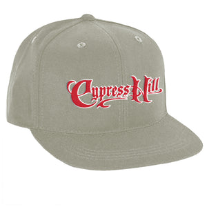 "Cypress Hill ""Script Logo"" Grey Snap Back Baseball hat"