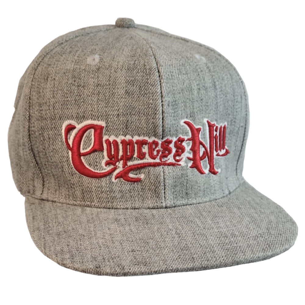 "Cypress Hill ""Script Logo"" Canvas Grey Snap Back Baseball Hat"