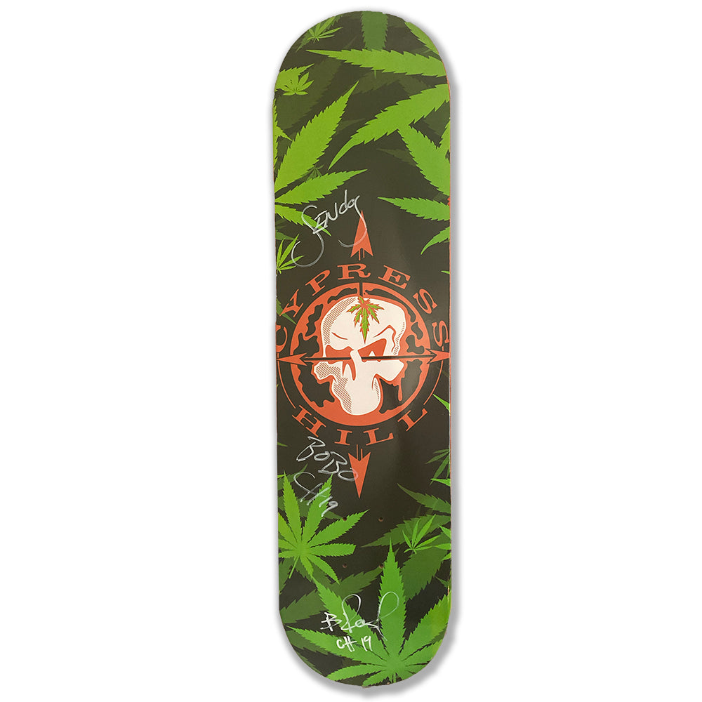"Cypress Hill ""Skull And Compass"" AUTOGRAPHED Limited Edition Skateboard Deck"