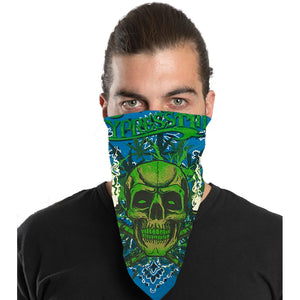 "Cypress Hill ""420"" Bandana in Blue Paisley"
