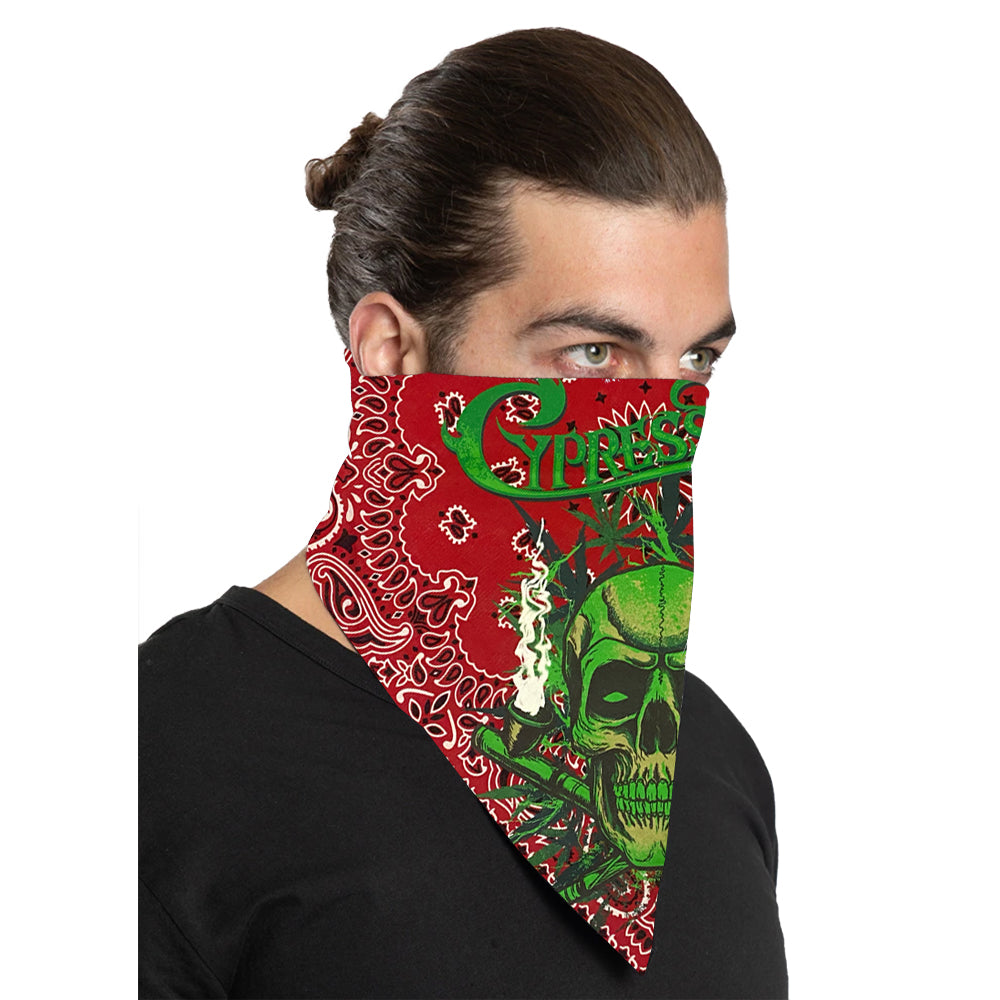 "Cypress Hill ""420"" Bandana in Red Paisley"