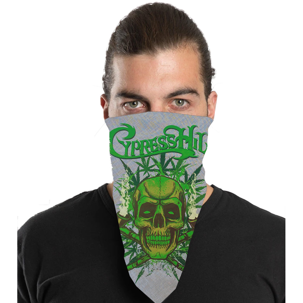 "Cypress Hill ""420"" Bandana in White"