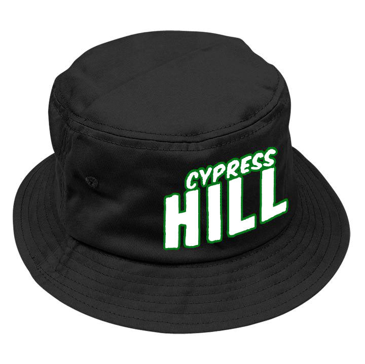 "Cypress Hill ""Block Logo"" Bucket Hat in Black"