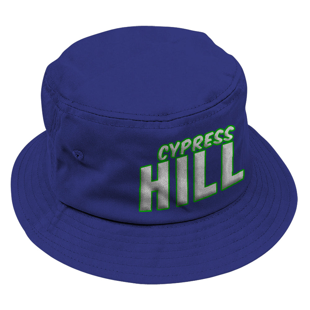 "Cypress Hill ""Block Logo"" Bucket Hat in Blue"