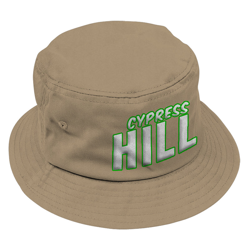"Cypress Hill ""Block Logo"" Bucket Hat in Tan"