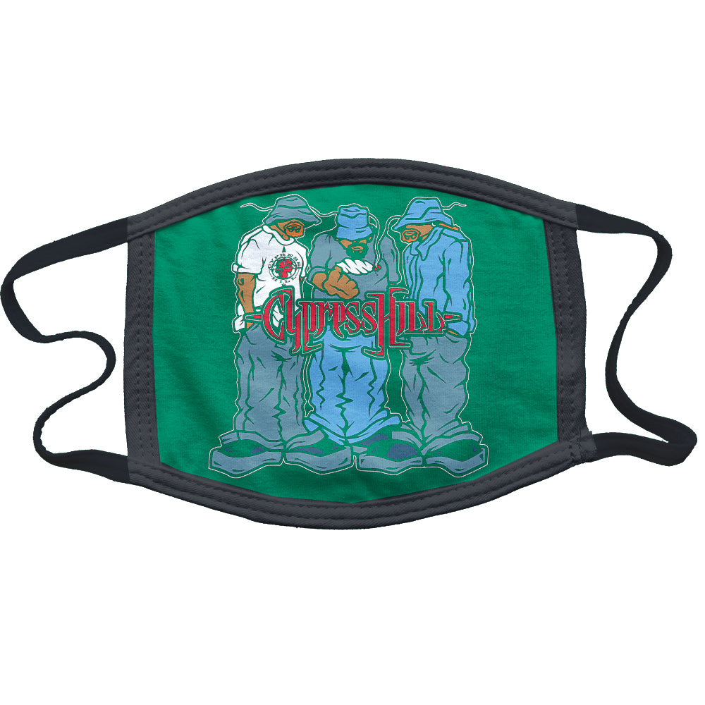 "Cypress Hill ""Blunted"" Reusable and Washable Anti-Germ and Pollution Mask Cover in Green"
