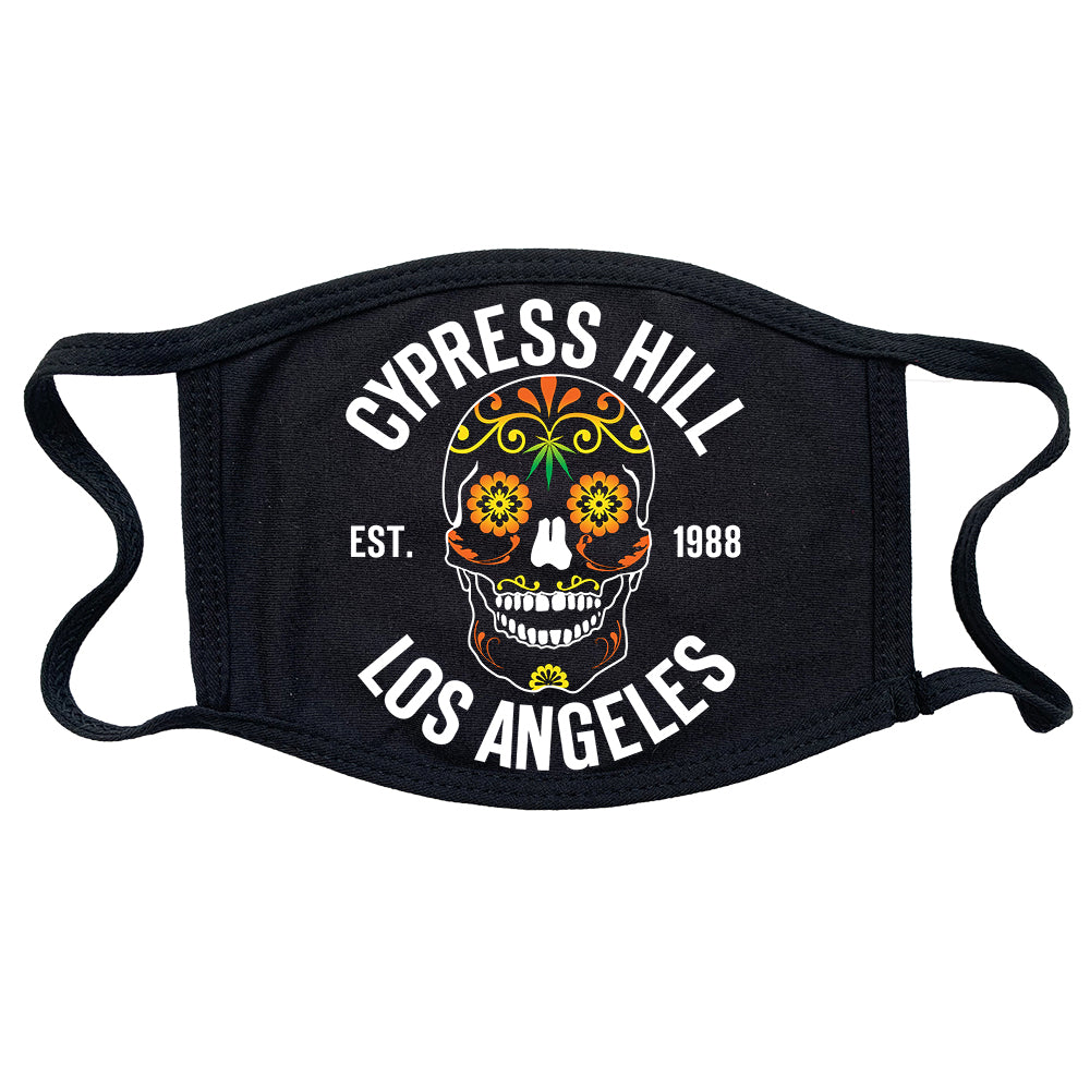 "Cypress Hill ""Day of the Dead"" Reusable and Washable Anti-Germ and Pollution Mask Cover"