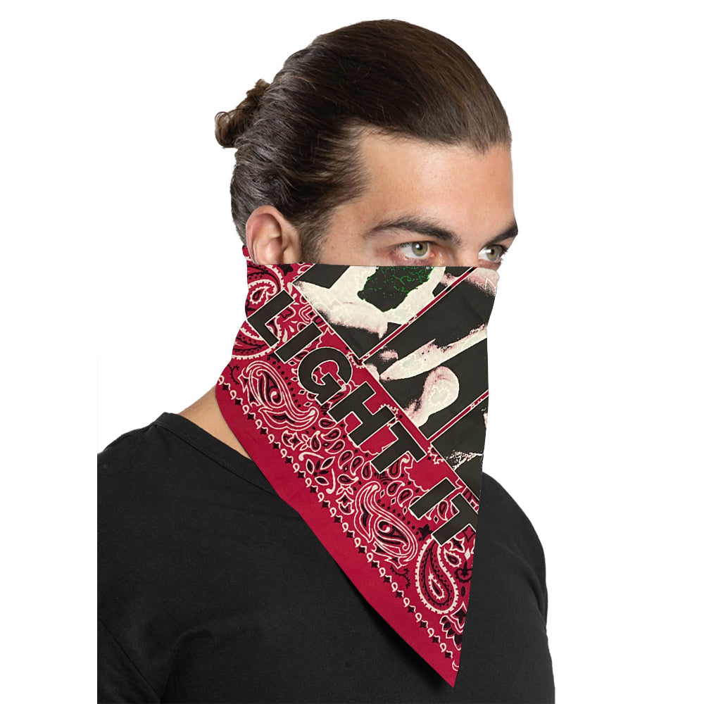 "Cypress Hill ""Roll It"" Bandana in Hot Pink"