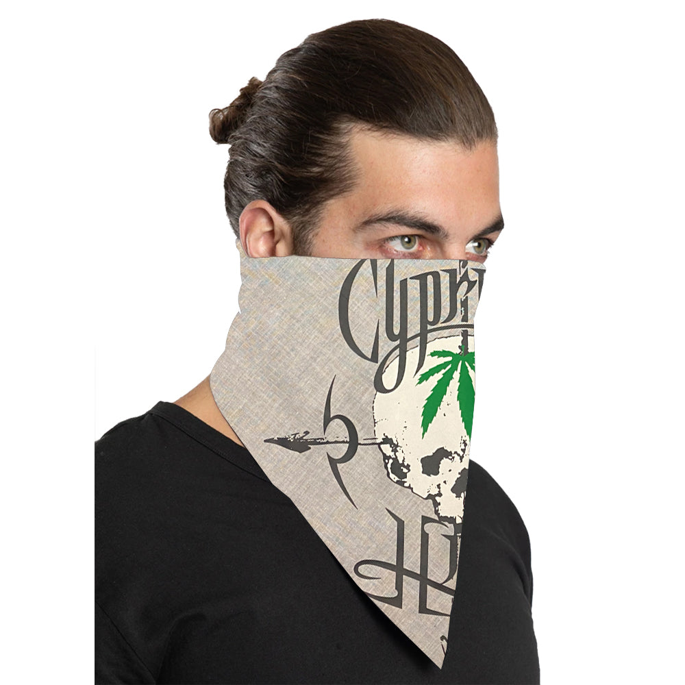 "Cypress Hill ""Pothead"" Bandana in White"