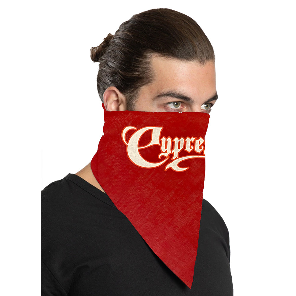 "Cypress Hill ""Script Logo"" Bandana in Red"